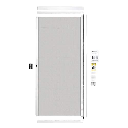 NovaScreen Retractable Screen Patio Door | Durable & Strong, PVC & Aluminium Components, for 5 & 6 Foot Width Standard Sliding Patio Door | Hardware & Mesh, Easy to Install, (White)
