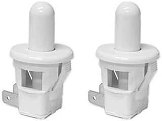 Pack of 2 Sub Zero Refrigerator Replacement Door Light Switch (Round, White)