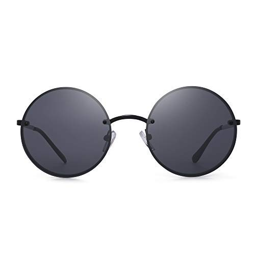 Gafas de sol redondas retro para hombres y mujeres círculo hippie gafas de sol