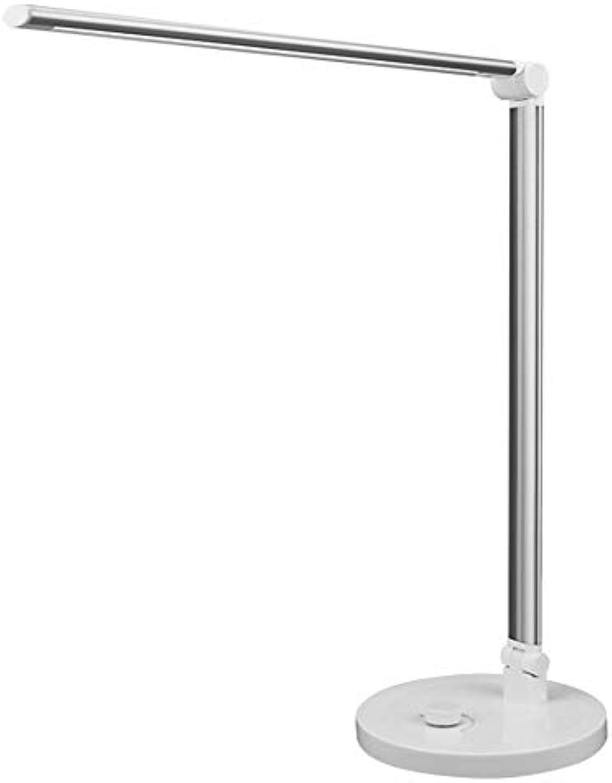 Augenpflege Tischlampe USB Lade Touch Control Metall LED Tischlampe Drehschalter Dimmen Schreibtischlampe Augenpflege Faltbares Schlafzimmer Nachtlicht 3 Farbtemperaturen DC 5V 1A Eingang Büro Licht