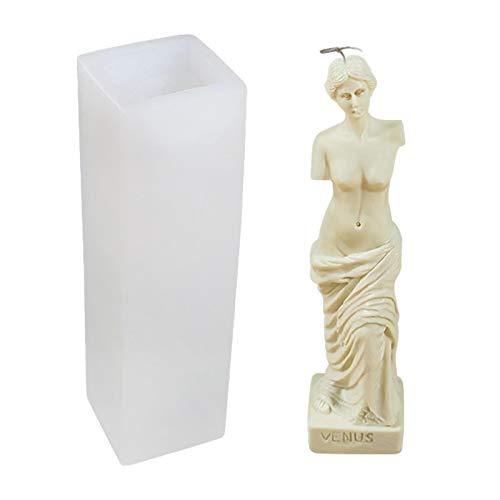 Moldes De Silicona 3D Molde De Silicona para Velas De Cuerpo De Mujer, Torso Femenino Molde para Hacer Jabón De Velas De Silicona Moldes De Fundición De Epoxi Molde De Joyería De Cristal para