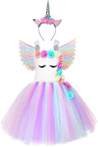 Cuteshower Girl Unicorn Costume Baby Unicorn Tutu Dress Outfit Princess Party Costumes with product image