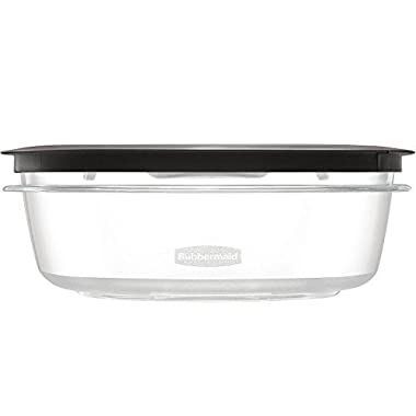 Rubbermaid Premier Food Storage Container, 9 Cup, Gray, Pack of 2