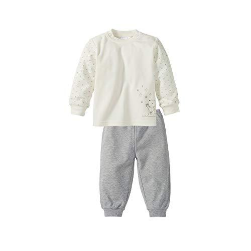 Bornino Schlafanzug lang - Pyjama für Babys - Langarm-Shirt mit Druckknöpfen & Hose mit elastischem Bund - Reine Baumwolle - Mehrfarbig