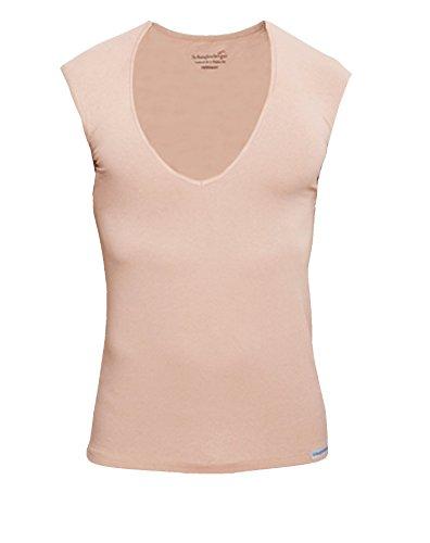 Schaufenberger Deepneck Ärmelloses Unterhemd Hautfarbe, Größe M