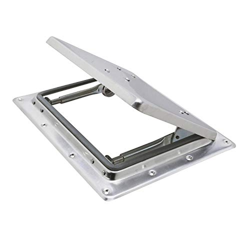 Thule Dachentlüftungs-Klappe Aluminium 260x205 mm Griff Dachluke Teleskop-Aussteller Silber Klappe