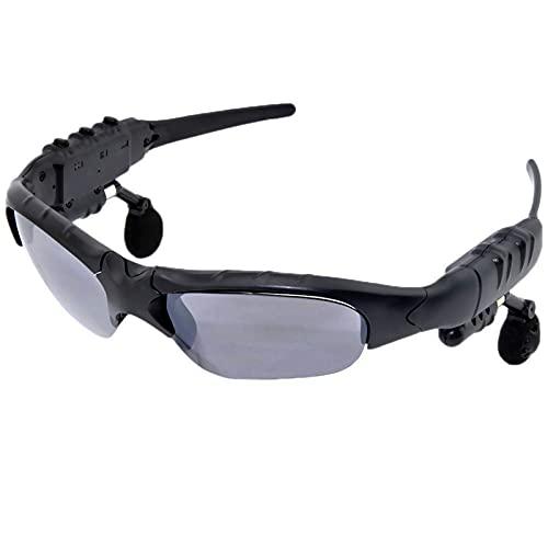 DIOUS Gafas de Audio Inteligentes, música Escuchando música estéreo, Deportes inalámbricos, para Juegos de Juegos de Viaje con vidrios Bluetooth Bluetooth,Gris