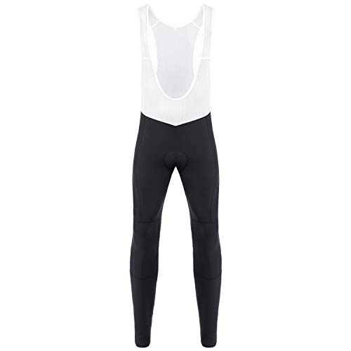 Dooy Men' Cycling Bib Pants 4D Padded Bike Tights Compression Thermal Bicycle Long Legging, Breathable & Better Fit(Black,4XL)