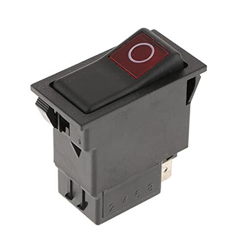 Yuquanxin 2 Conexiones ON-Off Interruptores De Rockero Impermeable Encapsulado Interruptor De Palanca Durable (Color : Black)