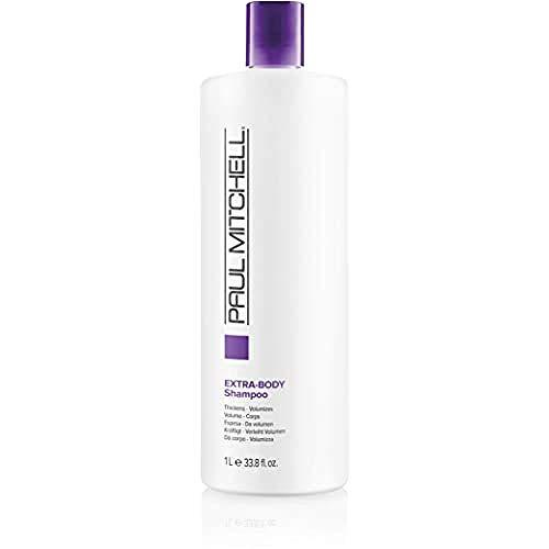 Paul Mitchell Extra-Body Shampoo - Volumen-Shampoo für normales bis feines Haar, stärkende Hair-Care mit Panthenol für Geschmeidigkeit, 1000 ml