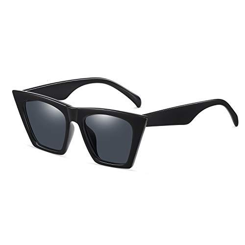 SHEEN KELLY Gafas de sol polarizadas con parte superior plana para hombres, mujeres, diseñador retro, cuadradas, estilo sucinto, gafas de sol con lentes transparentes, UV400