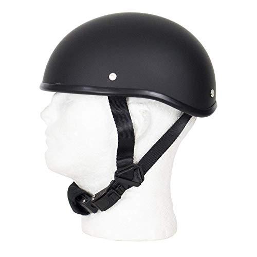 MONACO TRADERS SOA Beanie Novelty Flat Black Motorcycle Half Helmet Cruiser Biker S,M,L,XL,XXL (L, Flat Black)