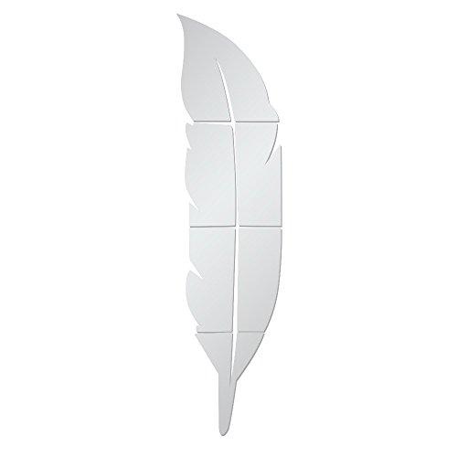Zegeey DIY Wanddekoration Selbstklebende Wandsticker Abnehmbare Wandspiegelaufkleber 3D Dekoration Deko FüR Fenster Flur KüChe Wohnzimmer Badezimmer (F-Silber)