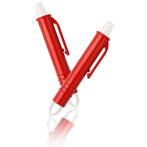 CYWVYNYT Tekentang [2X] | Tekenverwijdering onmiddellijk - met microhaak (rood)