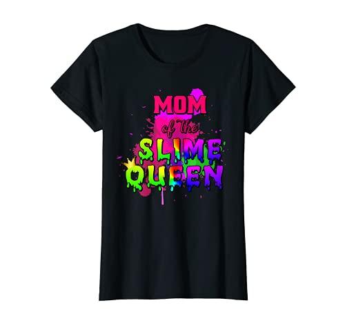 Mujer Mamá de la reina de limo a juego de cumpleaños Camiseta