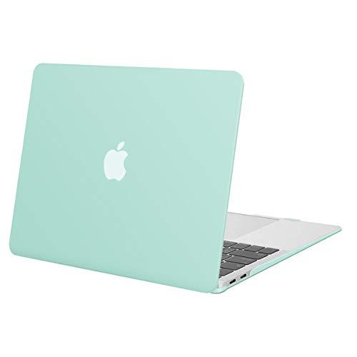 MOSISO Funda Dura Compatible con 2020-2018 MacBook Air 13 Pulgadas A2337 M1 A2179 A1932 con Pantalla Retina & Touch ID,Ultra Delgado Carcasa Rígida Protector de Plástico Cubierta,Menta Verde