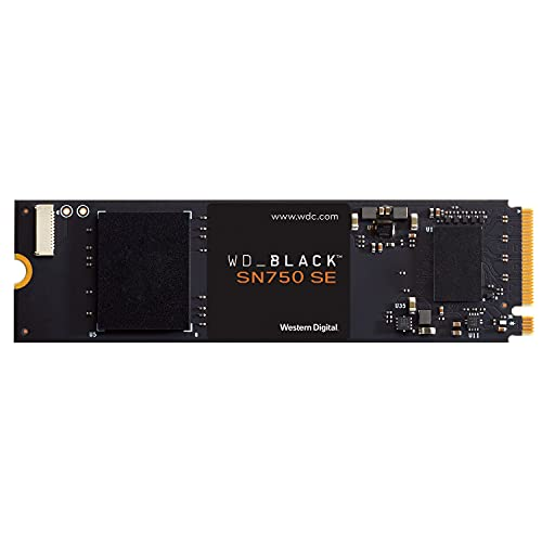 WD_BLACK 1TB SN750 SE NVMe Internal Gaming SSD Solid State Drive - Gen4 PCIe, M.2 2280, Up to 3,600 MB/s - WDS100T1B0E