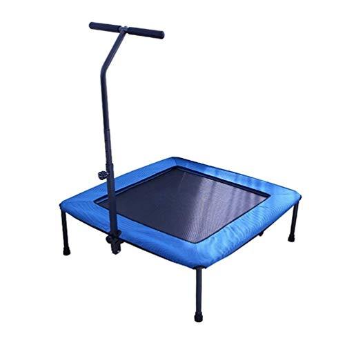 Bengchuang Opvouwbare Vierkante Fitness Trampoline, Met Armsteun Springen Bed Binnen Voor Volwassenen Kinderen Afslanken Buik Afvallen