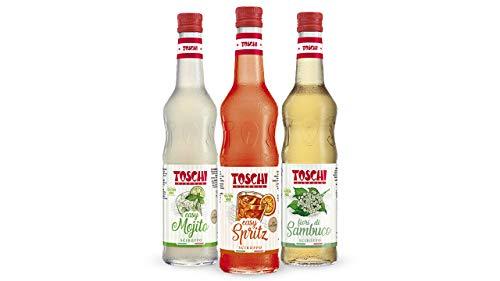 Set per aperitivo: Sciroppi Spritz, Mojito e Fiori di Sambuco per aperitivi, alcolici o analcolici.