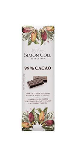 Chocolates Simón Coll Chocolate 99{c4138ef913d0b1b4051a5a82b026b3af56ba240154725126181bf1d7c4999890} Cacao - 14 Unidades x 25g