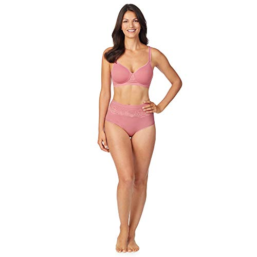 Company Ellen Tracy Seamless Curves Floral Wirefree Comfort Bra Misty Pink