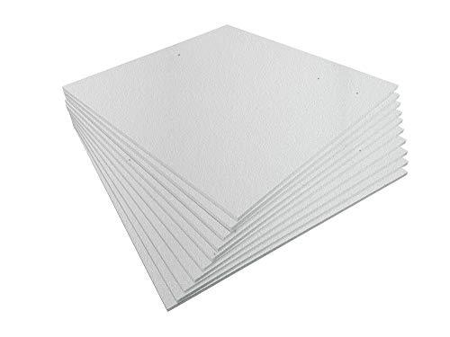 Styroporplatten - Stärke 1,0cm - Breite 56cm - Länge 56cm - 3,13m² - 10 Stück