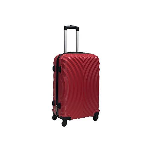 Totò Piccinni Set Valigie Trolley Ibiza con guscio rigido di ottima qualità con 4 rotelle pivotanti (Rosso, M, 68x45x24)