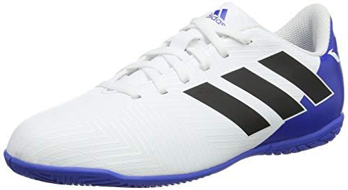 adidas Nemeziz Messi Tango 18.4 in J, Scarpe da Calcio Unisex-Bambini, Bianco (Ftwwht/Cblack/Fooblu Ftwwht/Cblack/Fooblu), 38 2/3 EU