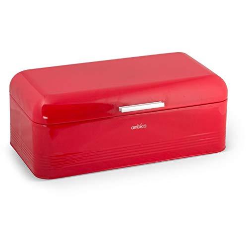 Brotbox ALVA M/L aus Metall Brotkasten, Maße: 30x20x15,5 cm und 42x24x16,5 cm, Vintage Brotkasten erhältlich in versch. Farben
