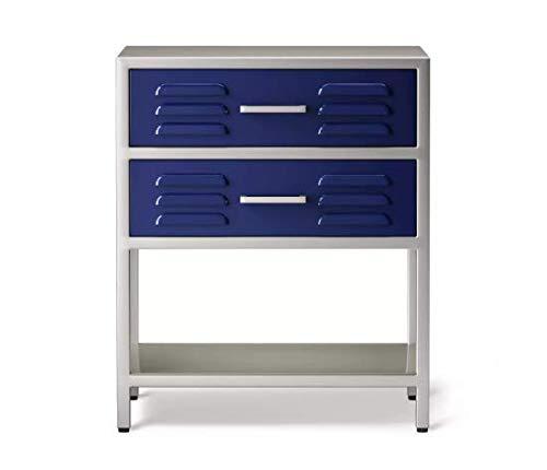 2-Drawer Locker Kids' Nightstand - Blue Overall - Pillowfort™