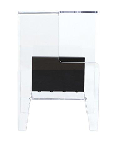 Emporium Chevet Glove avec Compartiment Ouvert en méthacrylate Transparent et élément diviseur laqué Noir ou Blanc