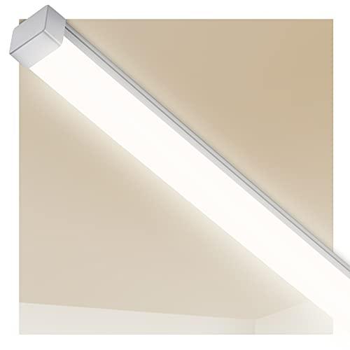 LED Feuchtraumleuchte 150cm, 44W 5550LM LED Deckenlampe, LEOEU IP65 Garage Lampe Bürodeckenleuchte für Garten Shop Keller Büro Werkstatt Lager, Neutralweiß 4000K