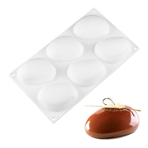 JHWSX 2pcs Silicone Fondant Molds, Cobblestone Shape Cake Decoration Tools for DIY Sugar Craft Candy Chocolate Ice Cube Tray Soap Molds