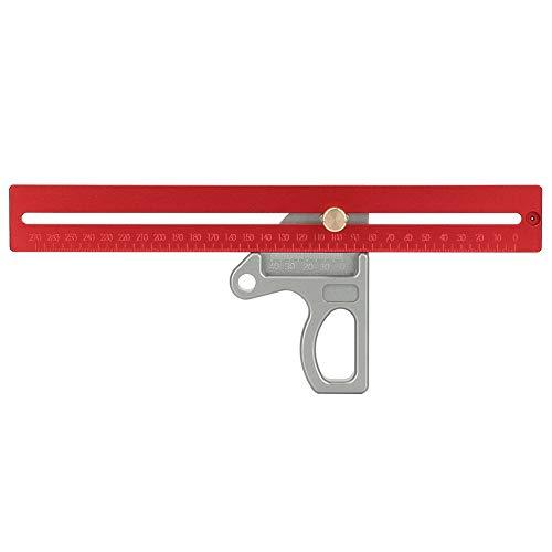 Regla de ángulo de carpintería de carpintería 45/90 Grado, ángulo línea de ángulo regla de ángulo Escribe líneas calidad aleación de aluminio aleación de aluminio hecho