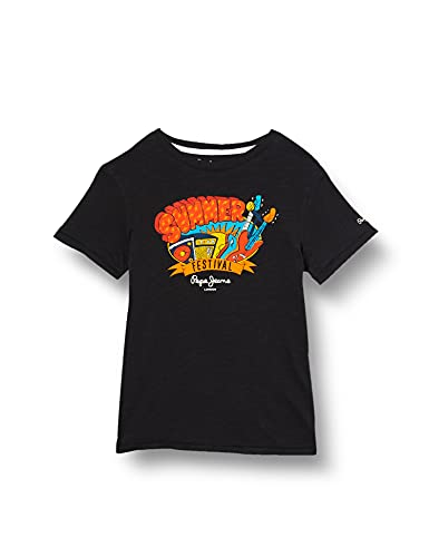 Pepe Jeans Herren Logan T-Shirt, Washed Black, 16