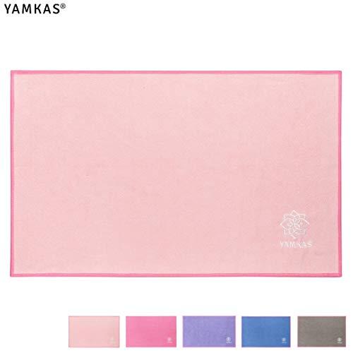 Yamkas Yoga Toalla de Microfibra Pequeña 61x35cm
