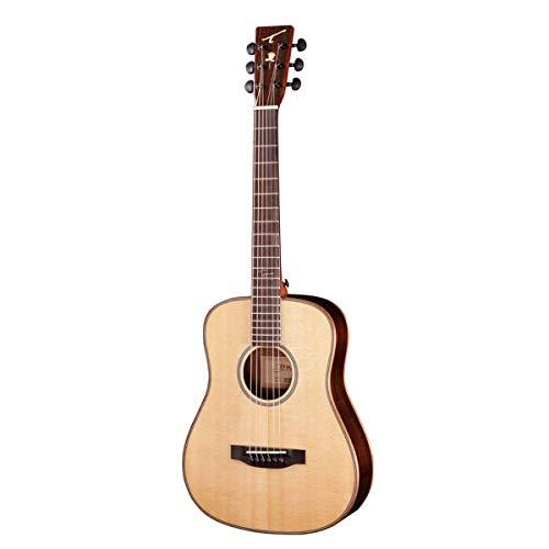 Tyma HB-400E - Guitarra de viaje con pastilla integrada...