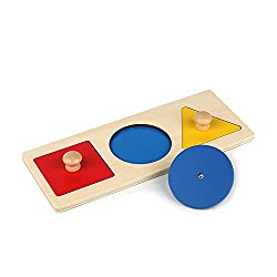 in budget affordable Some Montessori puzzles First shape big handle wooden puzzles Geometric puzzles …