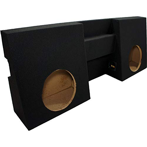 "ASC Toyota Tacoma Double Cab Truck 2005-2014 Dual 10"" Subwoofer Custom Fit Sub Box Speaker Enclosure"