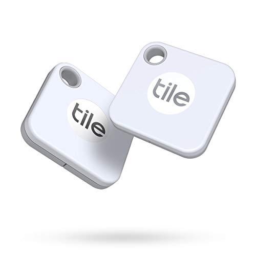 Tile Mate (2020) Bluetooth Trova Oggetti, 2 Pezzi, Bianco, Portata Rilevamento 60m, Batteria Sostituibile 1 Anno, Compatibile con Alexa e Google Home, iOS e Android, Trova Chiavi, Telecomandi e Altro
