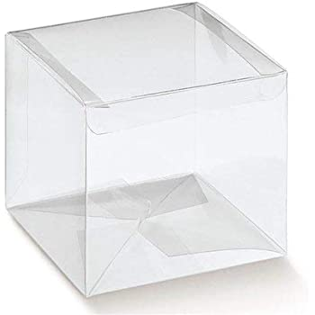 Espirito Rebelde Lda. Pack 25 Cajas Acetato Transparente automatico 55x55x180mm: Amazon.es: Hogar