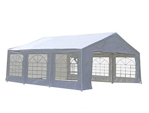 Quictent 20' x 20' Heavy Duty Outdoor Gazebo Party Wedding Tent Canopy Carport Shelter with Carry Bags (20x20, White)