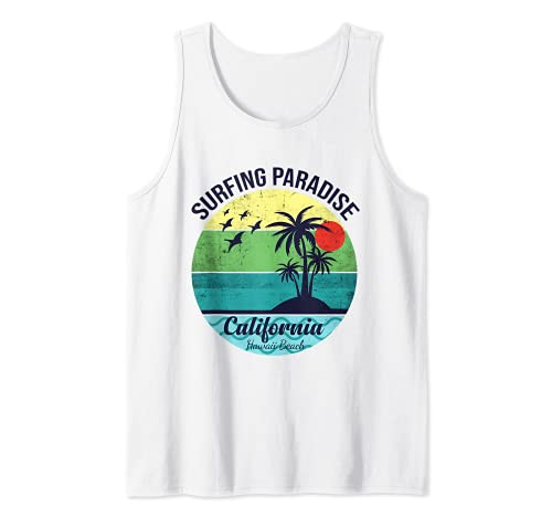Surfing Paradise California Diseño para un surfista Camiseta sin Mangas