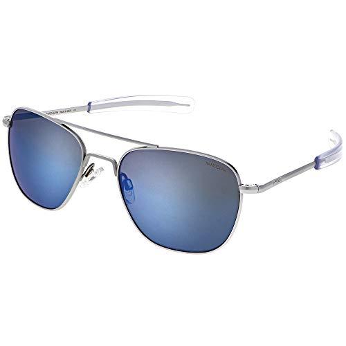 Randolph Matte Chrome Classic Aviator Sunglasses for Men or Women Non-Polarized 100% UV