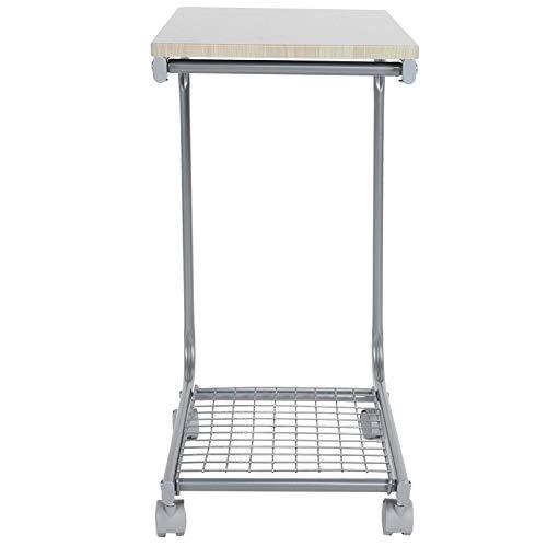 Bicaquu Mobiler Stehpult am Couchtisch, mobiler Multifunktions-Stehpult für das Büro zu Hause(Maple)