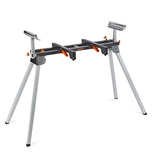 VonHaus Mitre Saw Stand - Universal Fit with Extending Support Arms & Quick Release Clamps