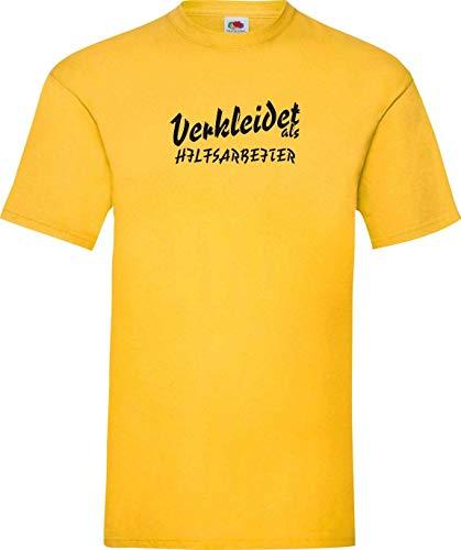 Shirtinstyle Camiseta carnaval VESTIDO COMO TRABAJO EXPERIENCIA BECARIO LO MEJOR revestimiento Disfraz de carnaval - amarillo, S