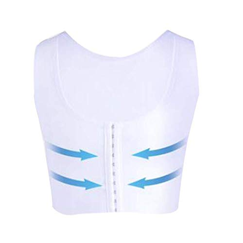 Männer Kompressionsweste Gynäkomastie Mens Base Layer Short Sleeve Körper-Former-Unterhemd (Color : Small)