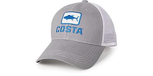 Costa XL Trucker Hat, Tuna, Gray + White