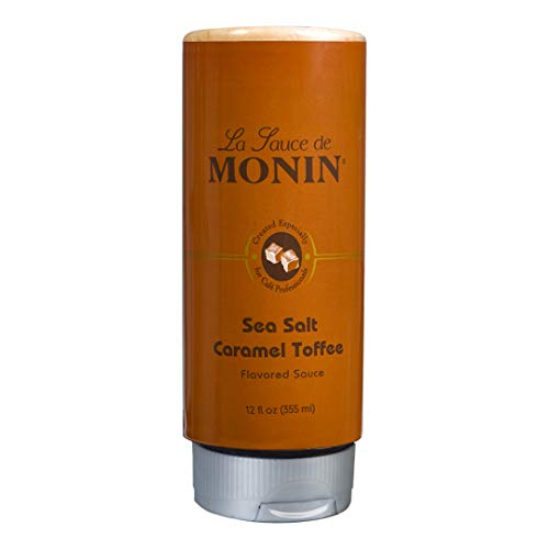 Monin - Sea Salt Caramel Toffee, Rich & Buttery Flavor with Creamy Caramel Notes, Great for Coffee, Milkshakes, & Dessert Cocktails (12 oz)